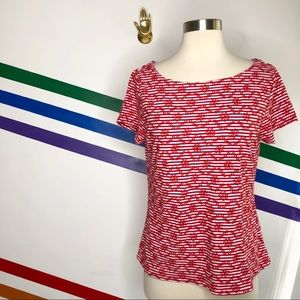NEW Postmark embroidered striped top